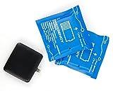 Flexibles Aufladen für unterwegs: 3 Mini-Ladestationen Lade-Batterien PowerBank zur einmaligen Nutzung für Samsung Galaxy Xcover 4 | On7 (2016) | Wide 5.5
