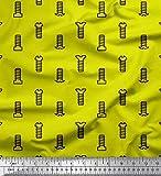 Soimoi Gelb Baumwolle Ente Stoff Schraube und Muttern