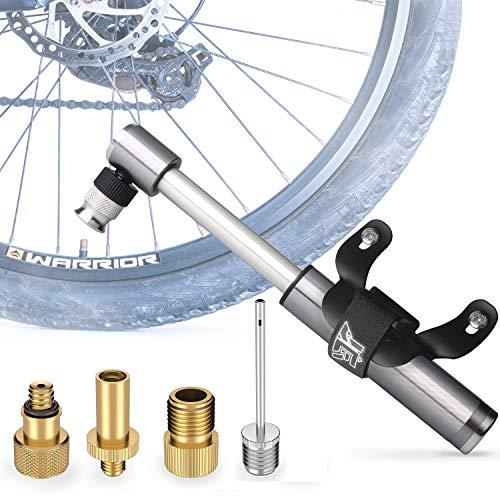 AOKMA Mini Fahrradpumpe Universal Luftpumpe Aluminiumlegierung Reifenpumpe Fahrrad Kompakt & Leichte Handpumpe für Fahrrad, E-Bike, Mini-Bike, E-Bikes, Trekkingrad,Mit AV DV SV Fahrradventil
