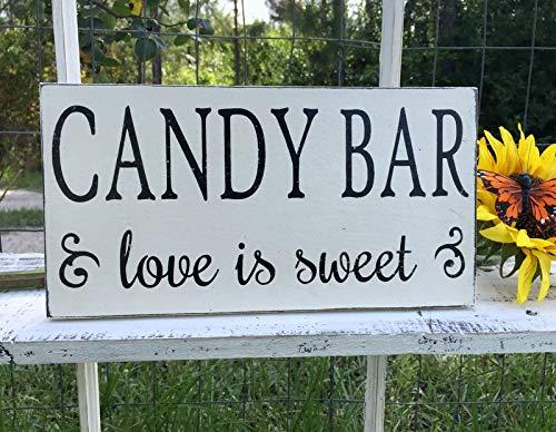 Claude16Poe - Cartel de Madera con Texto en inglés Candy Bar Bride...