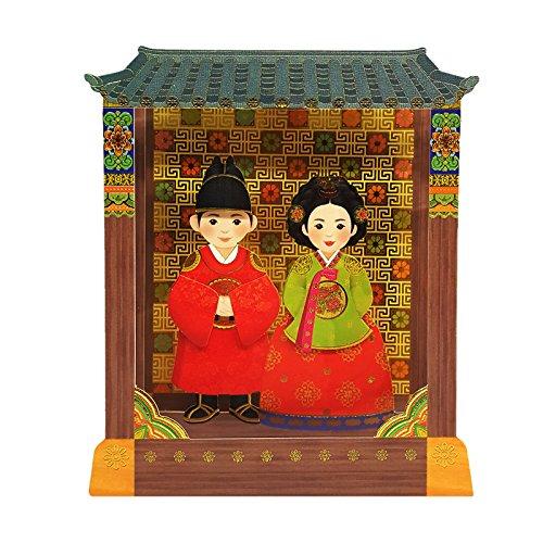 Kostüm Ideen Paare Einzigartige - YG Card korean kleidung könig n königin hanbok-karte hand made 3d stand up grußkarten umschläge inklusive mehrfarbig