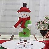 Weihnachten Wein Flaschendeckel Taschen Dekoration Home Party Dekoration Besteck Kostüm Weihnachtsmann Weihnachten, Schneemann