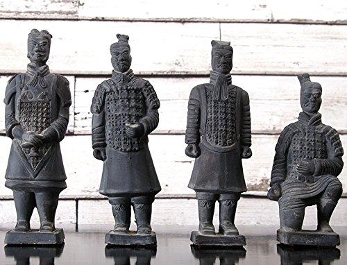 Terrakotta Krieger Set 4 Figuren ca 24cm Höhe Terracotta Armee
