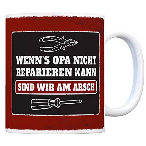 trendaffe - Kaffeebecher mit Spruch: Wenn Opa es Nicht reparieren kann sind wir am Arsch
