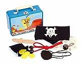 Unbekannt Pirat Piratenspiel im Blechkoffer Set Rollenspiel Piratenset, Inhalt aus Holz