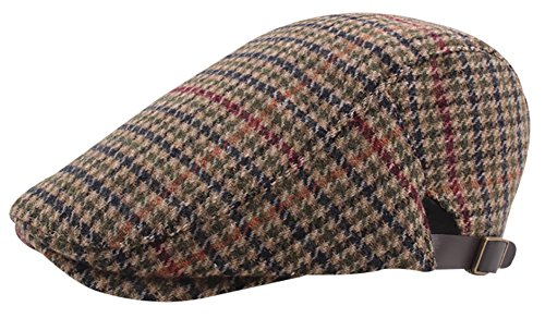 Panegy Sombrero Boinas Gorras con Visera para Hombre Mujer Patrón de Cuadros  Clásico Británico Retro Beret 9463845a8bd