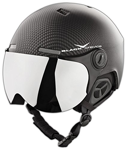 Crevice Casque de Ski-Noir Black Carbon/White...