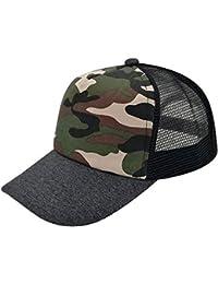 Gorra De Béisbol para Hombre Sombrero De Camionero De Tamaños Cómodos  Verano Sombrero De Camuflaje De Malla Transpirable De Moda… 9d779cc9327