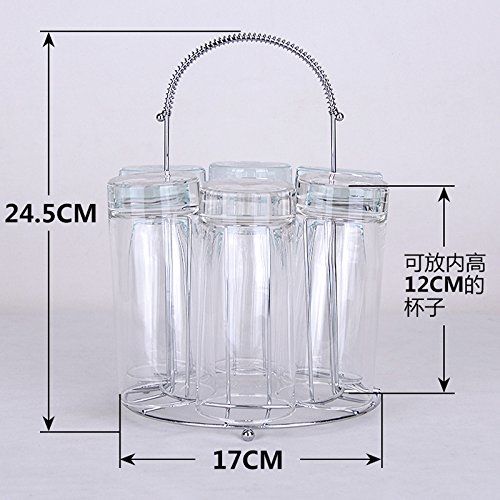 Hydro-montage (Einfach Glas Halter Cup Rack Ablauf Rack Glas Tasse Aufhängen Rack, nicht Wein enthalten Glas ball bottom circular cup holder)