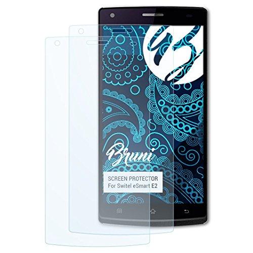 Bruni Schutzfolie für Switel eSmart E2 Folie, glasklare Bildschirmschutzfolie (2X)