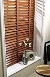 eXtreme® GENUINE WOOD VENETIAN BLIND - PECAN 50MM WIDE SLAT - MADE TO YOUR OWN SIZES - JUST ORDER AND EMAIL YOUR SIZES! (UP TO: 60cm wide x 180cm height)