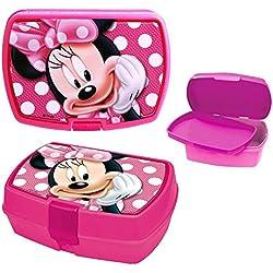 Disney Topolino Minnie Mouse - Box Spuntino Lunchbox Portamerenda 18 x 15 x 8,0 cm