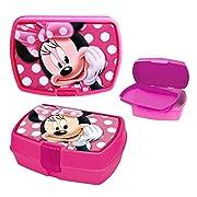 Disney Topolino Minnie Mouse - Box Spuntino Lunchbox PortamerendaPer i panini, verdure, barrette di cereali u.v.m.Snack Box di materiale altamente resistente e inserto estraibile.Chiusura: Click-UpMateriale: polipropilene PPDimensioni esterne...