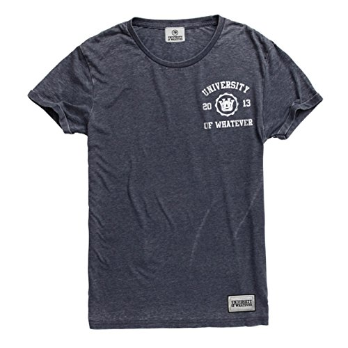 University of Whatever Herren Erstklassiges Burnout Tshirt Anthrazit Medium CRT21 (Burnout-raglan-t-shirt)