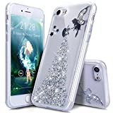 Coque iPhone 7,Étui iPhone 7,iPhone 7 Case,ikasus Coque iPhone 7 Silicone Étui Housse Téléphone Couverture TPU avec Bling Glitter Sparkle Brillant étincelle Étoile l'ange Fille Star Angel girl Modèle Ultra Mince Premium Semi Hybrid Crystal Clear Flex Soft Skin Extra Slim TPU Case Coque Housse Étui pour Apple iPhone 7 (4.7') - Ange:Argent