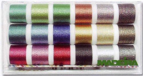 MADEIRA 8020 Stickbox Metallic Supertwist 18 Spulen  200 M -