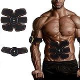 Toner muscolare Cintura tonificante addominale Istruttore ABS EMS Attrezzatura per il fitness Cintura ricaricabile senza fili con telecomando per braccio allenamento per le gambe donna e uomo