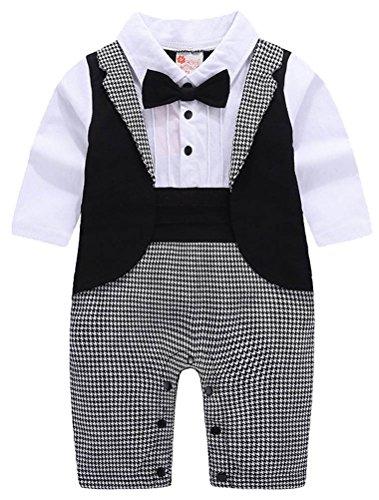 Araus neonato completini battesimo di nozze suits smoking tutine tuxedo outfit con farfallino