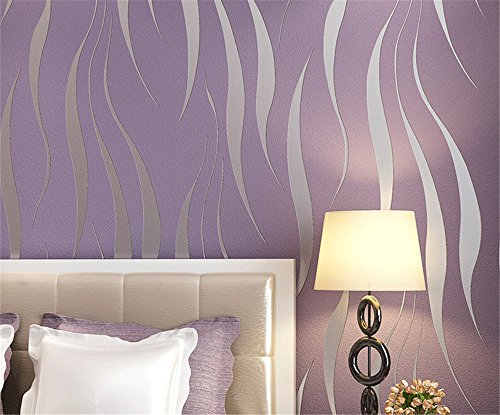 Ufengke Non Woven Flocking Bronzing Modern Simple 3D Ripple Pattern  Wallpaper Mural For Living Room Bedroom TV Backdrop Part 44