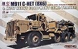 MENG-Model SS-013 1/35 M911 C-Het (8x6) & M747 Schwerlasthänger Plastikmodellbausatz, Modelleisenbahnzubehör, Hobby, Modellbau, Mehrfarbig