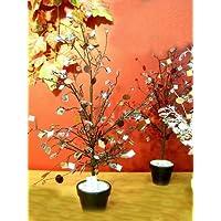 Idea Natale: albero dei desideri e delle promesse con specchietti e lustrini, su vaso. Altezza 55cm