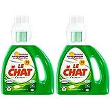 Le Chat L'Expert Bicarbonate Lessive Liquide avec Auto Doseur 1,29 L Lot de 2