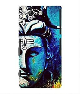 For Sony Xperia Z4 MINI -Livingfill- lord shiva paintings canvas Printed Designer Slim Light Weight Cover Case For Sony Xperia Z4 MINI (A Beautiful One of the Best Design with a Classic Theme & A Stylish, Trendy and Premium Appeal/Quality) (Red & Green & Black & Yellow & Other)