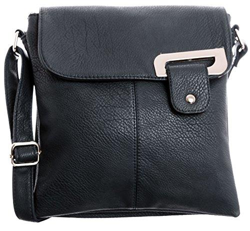 Big Handbag Shop - Borsa a tracolla donna (Navy - Gold Trim) Sitio Oficial Barato 3eFYG