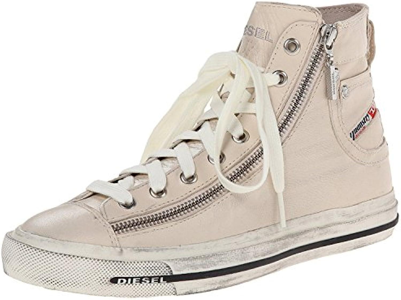Diesel Expo Zip off bianca donna Leather Hi Trainers stivali-8 stivali-8 stivali-8 | Commercio All'ingrosso  77751a