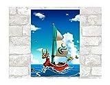 Autocollants Muraux Zelda Stickers Muraux De Dessins Animés De Papier Peint Imperméable À L'Eau De Vinyle Autocollants Décoration De Chambre À Coucher Murale 88X64Cm D