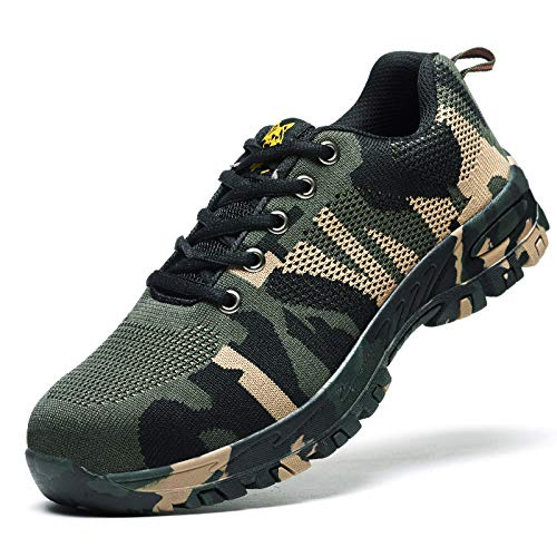 Leobtain Soldat Walking Men Klettern Schuhe Atmungsaktiv rutschfest Berg Laufen Wandern Sicherheit Sneaker -