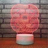 Schlafzimmer Nachttischdekoration 3D Abstrakte Rundrohr Wickel Nachtlicht LED Veränderbar Stimmung Lampe USB Schlafen Tischlampe Geschenke