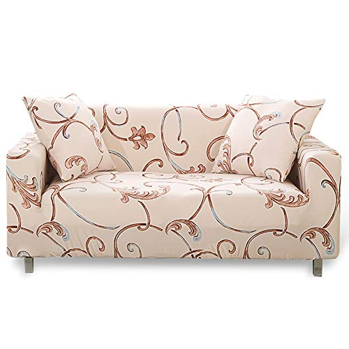HOTNIU Elastischer Sofa-Überwürfe Antirutsch Stretch Sofaüberzug, Sofahusse, Sofabezug, Sofa Abdeckung Hussen für Sofa, Couch, Sessel in Verschiedene Größe und Farbe (2 Sitzer, Pattern #Yds)