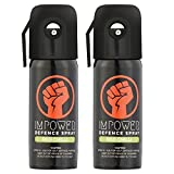 #5: IMPOWER Self Defence Red Chilli Spray for Women and Men - Sprays upto 12 feet and 45 Shots - Police Strength (Couple Pack of 2)