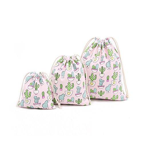 Cdet Lagerung Tasche Kaktus Baumwolle Strahl Mund Kordelzug Tee Geschenk Süßigkeiten Rauchen Taschen Aufbewahrungsbeutel Kosmetiktaschen Wäschesack Aufbewahrungs Tasche (L)