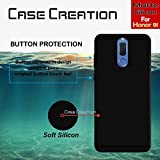 Back Cover For Huawei Honor 9i, Case Creation (TM) 0.3mm Ultra Clear Thin Soft Silicone TPU Silicone Flexible Black Silicone Back Case Cover For Huawei Honor 9i / Honor 9i 2017 / Huawei Honor9i 5.90-inch / Honor 9I (Vintage Black Print)