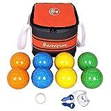 Harvil 90Mm Bocce Ball Set. Includes 8 Poly-Resin Balls, 1 Pallino, 1 Nylon