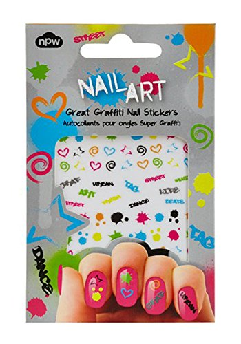 NPW Stickers pour ongles Motif graffiti