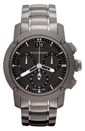 BURBERRY BU9108 BU9801 - Reloj para hombres, correa de acero inoxidable color negro