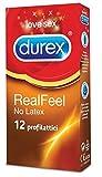 Durex Real Feel Preservativi, 12 Pezzi immagine