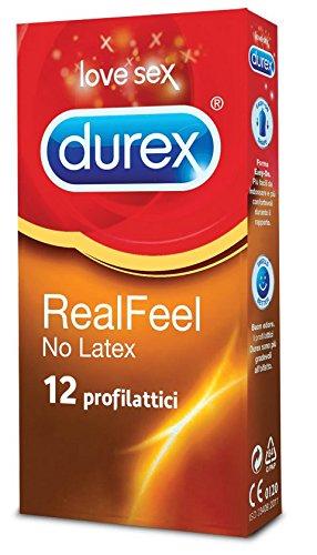 Durex Real Feel Preservativi, 12 Pezzi