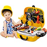 GRAPPLE DEALS Perfect 31 Pcs Mechanic Tool Pretend Play Set With Carry Car Case Toy For Kids.(Yellow)