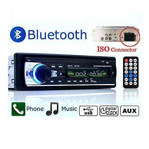 Eaglerich Estéreo 12V del coche FM Radio Reproductor de audio MP3 construido en un teléfono Bluetooth con USB SD MMC Puerto del coche del bluetooth de radio en el tablero de 1 DIN