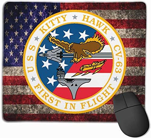 USS-Miezekatze-Falke CV-63 US-Flagge Mousepad rutschfeste Spiel-Mausunterlage Mousepad