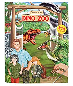 Depesche 10920 Create Your Dino Zoo, Dino World, Aprox. 33 x 25 x 0,5 cm.