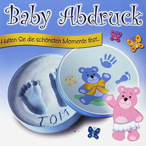 Baby-Gips-Abdruck für Jungen in einer Geschenkdose: Halten Sie die schönsten Momente fest...