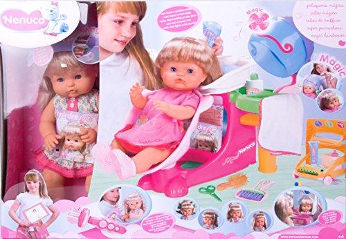 Nenuco - Peluqueria mágica, set de peluquería para muñecos Nenuco con 1 muñeca y accesorios (Famosa)