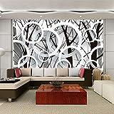 Papel Tapiz fotográfico 3D Estereoscópico Círculos Abstractos Árbol Sala de Estar Sofá TV Telón de Fondo Papel Tapiz Murales Papel Tapiz Mural 3D-400x280cm