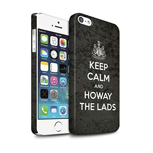 Offiziell Newcastle United FC Hülle / Matte Snap-On Case für Apple iPhone SE / Pack 7pcs Muster / NUFC Keep Calm Kollektion Howay Jungs