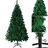 Weihnachtsbaum 120/150/180/210cm SANVA Tannenbaum weiß grün mit schnee Tannenzapfen 20/33/48/56er PVC hochwertiger künstlicher mit Metallständer Minutenschneller Aufbau mit Klappsystem Christbaum 250- (grün, 180cm)